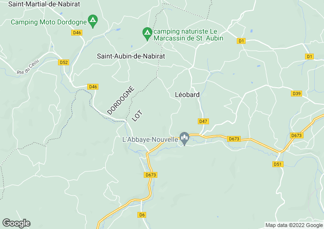 Map for leobard, Lot, France