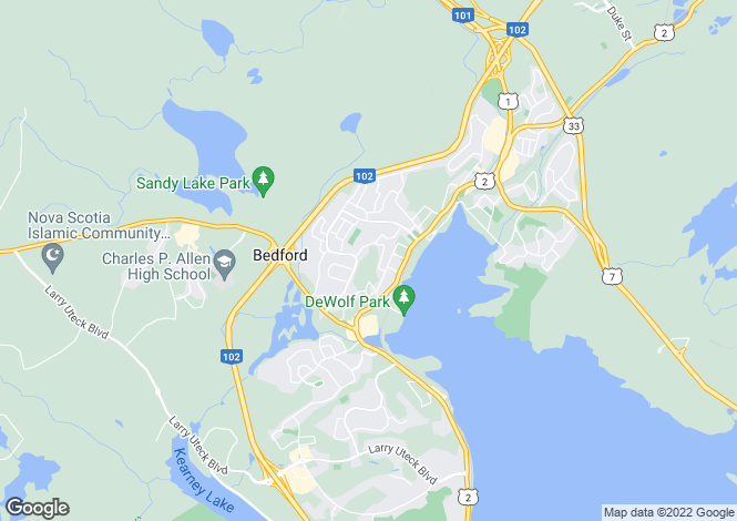 Map for Nova Scotia, Bedford