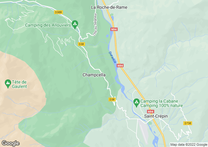 Map for champcella, Hautes-Alpes, France