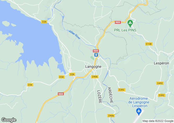 Map for LANGOGNE