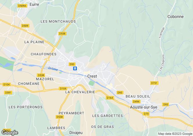 Map for crest, Drôme, France
