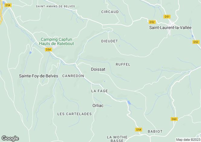 Map for doissat, Dordogne, France