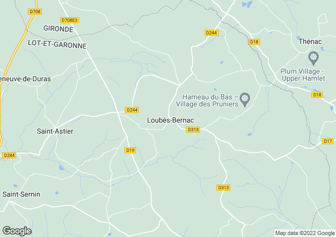 Map for loubes-bernac, Lot-et-Garonne, France