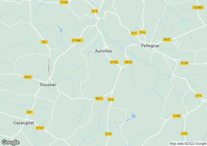 Map for auriolles, Gironde, France