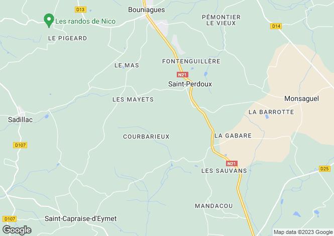 Map for Aquitaine, Dordogne, St-Perdoux