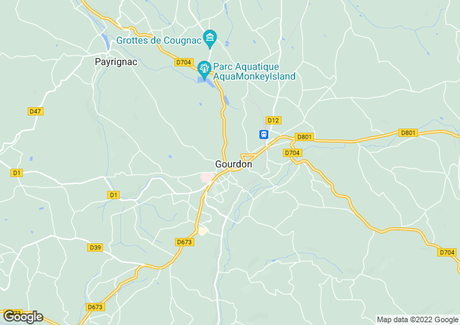 Map for Near Gourdon, Lot, South West France