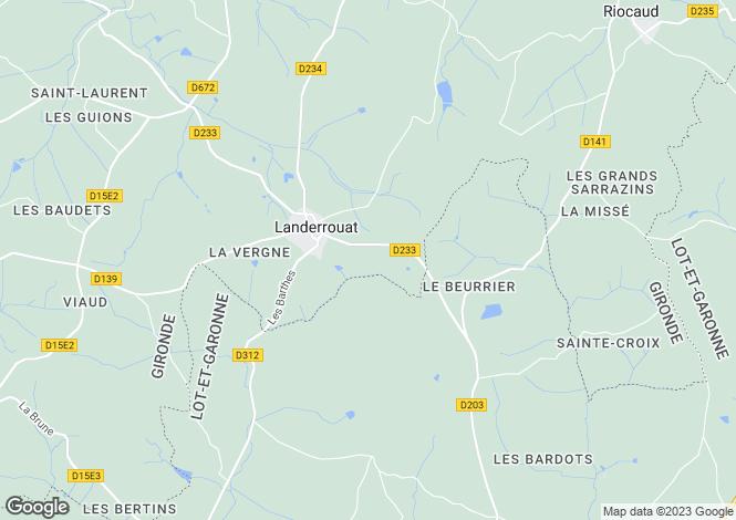Map for Landerrouat, Gironde