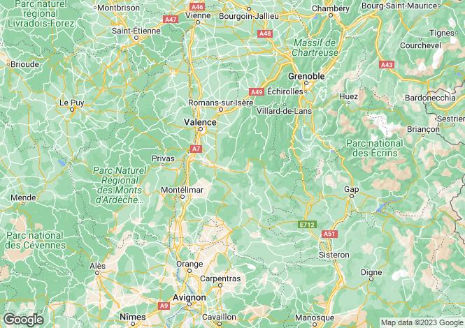 Map for Rhone Alps, Drôme