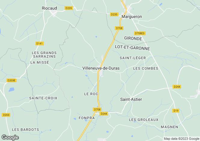 Map for Aquitaine, Lot-et-Garonne, Villeneuve-de-Duras