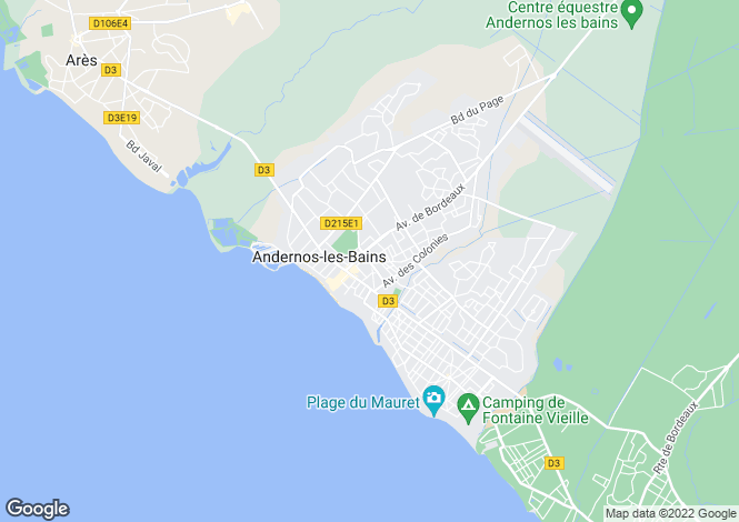 Map for andernos-les-bains, Gironde, France