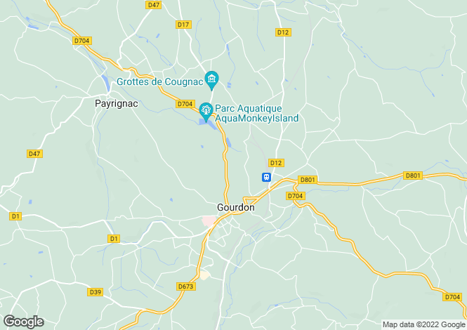 Map for Gourdon, Lot, Midi-Pyrénées