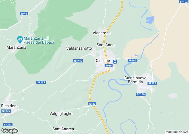 Map for Cassine, Alessandria, Piedmont