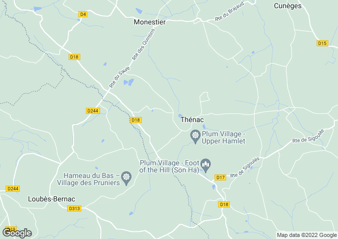 Map for thenac, Dordogne, France
