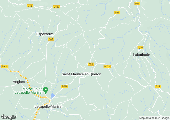 Map for Midi-Pyrenees, Lot, Saint-Maurice-en-Quercy