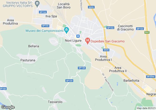 Map for Piedmont, Alessandria, Novi Ligure