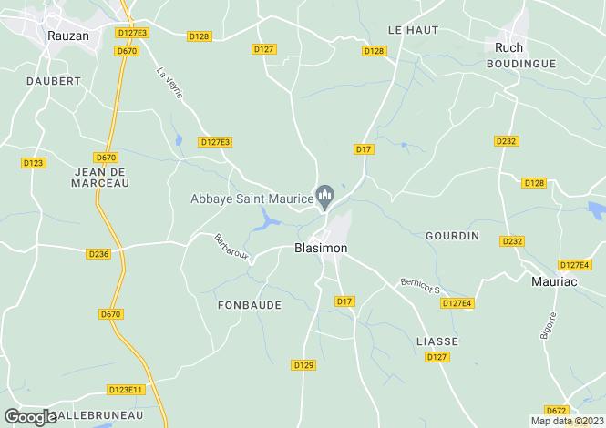 Map for entre-deux-mers, Gironde, France