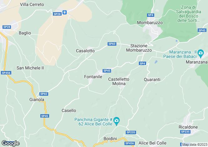 Map for Piedmont, Asti, Mombaruzzo