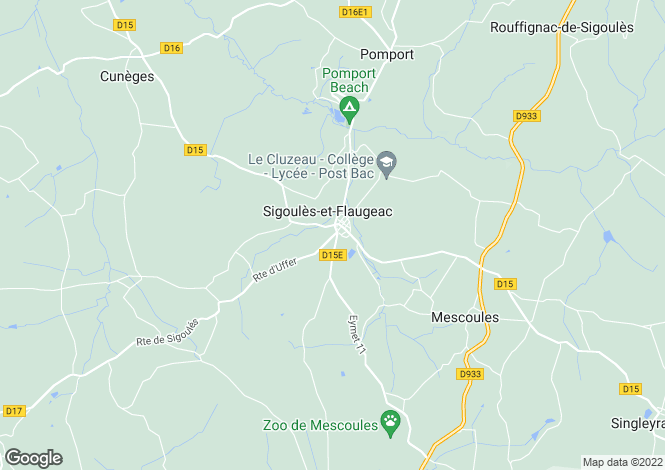 Map for Sigoules, Dordogne, 24240, France