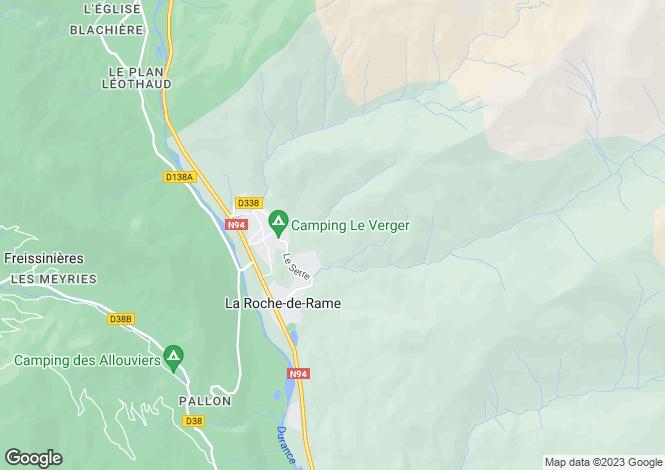 Map for Provence-Alps-Cote d`Azur, Hautes-Alpes, La Roche-de-Rame
