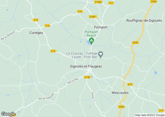 Map for sigoules, Dordogne, France