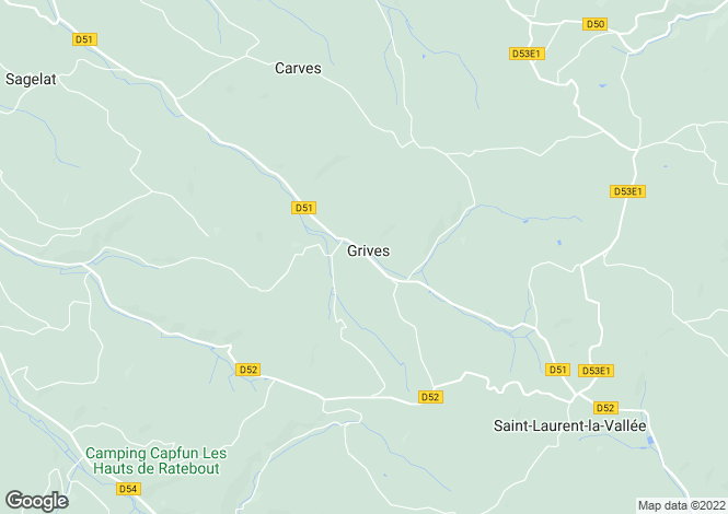 Map for grives, Dordogne, France