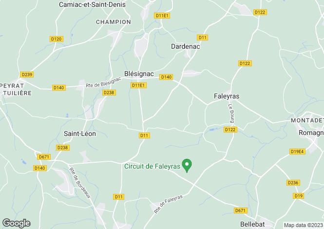 Map for la-sauve, Gironde, France