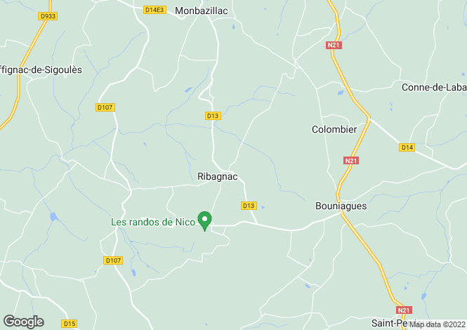 Map for ribagnac, Dordogne, France