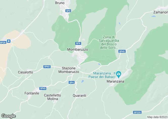 Map for Mombaruzzo, Asti, Piedmont