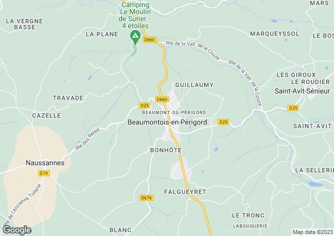 Map for Secteur: Beaumont-du-Perigord, Dordogne