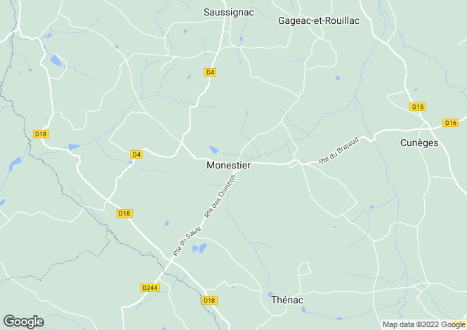 Map for monestier, Dordogne, France