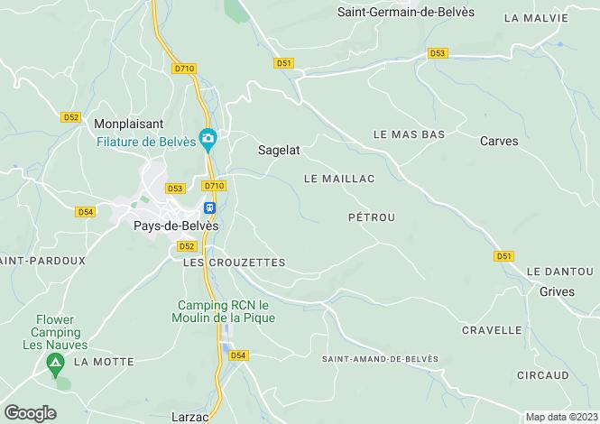 Map for Sagelat, Aquitaine, France