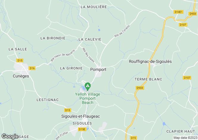 Map for pomport, Dordogne, France