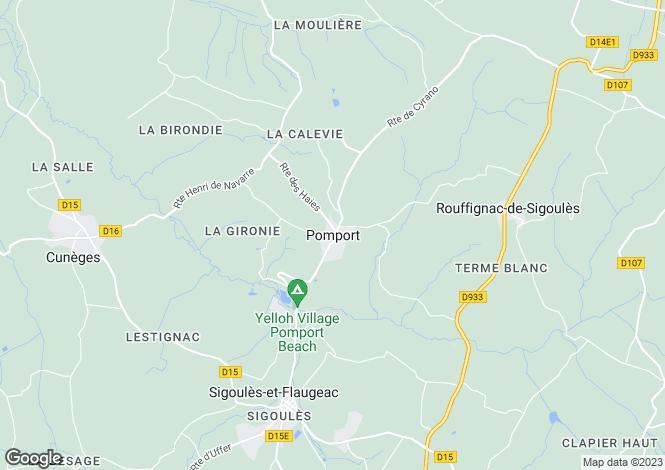 Map for Pomport, Aquitaine, 24240, France
