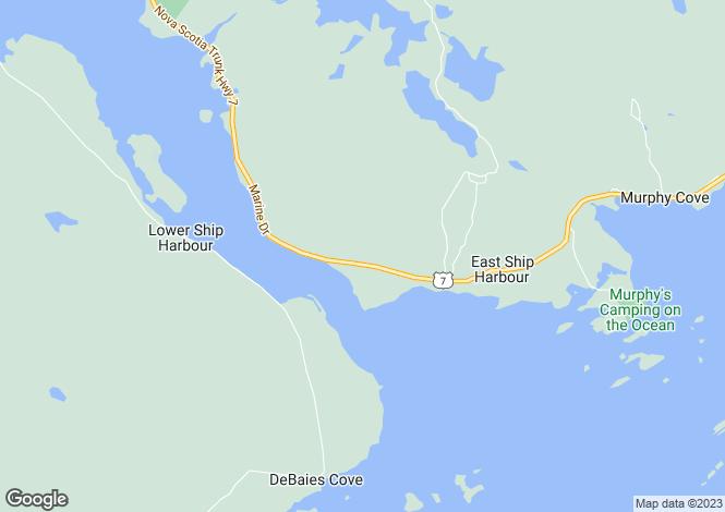 Map for Nova Scotia, Ship Harbour East