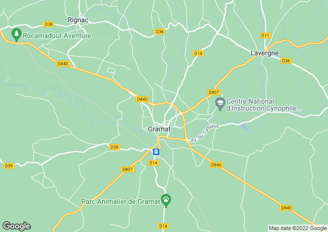 Map for Near Gramat, Lot, Midi-Pyrenees