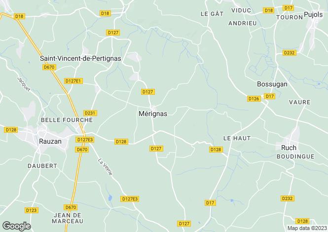 Map for saint-emilion, Gironde, France