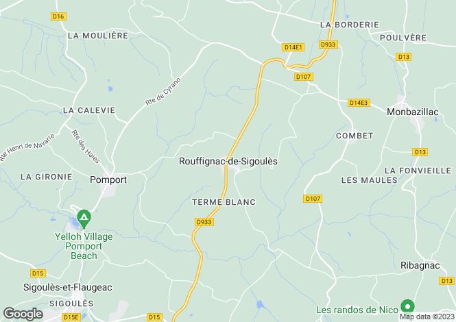 Map for Rouffignac-De-Sigoules, Aquitaine, 24240, France