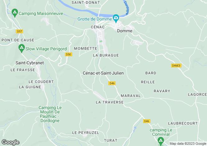 Map for Cenac Et St Julien, Aquitaine, 24250, France