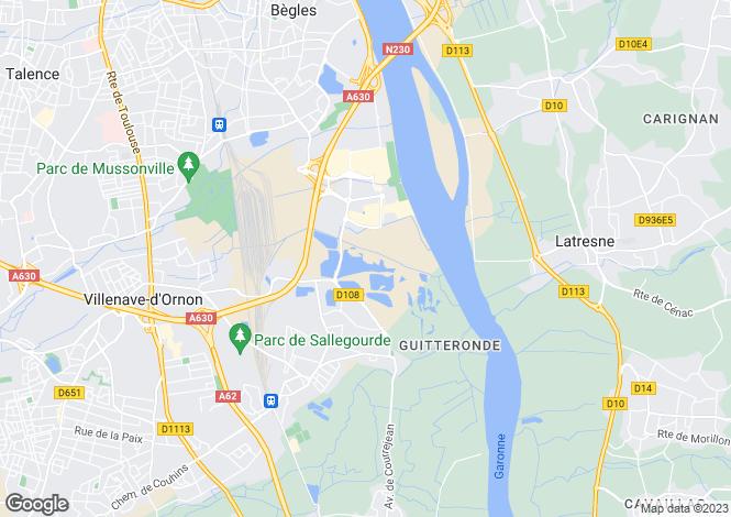 Map for villenave-d'ornon, Gironde, France