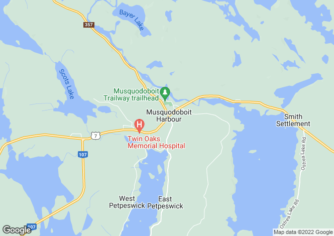 Map for Musquodoboit Harbour, Nova Scotia