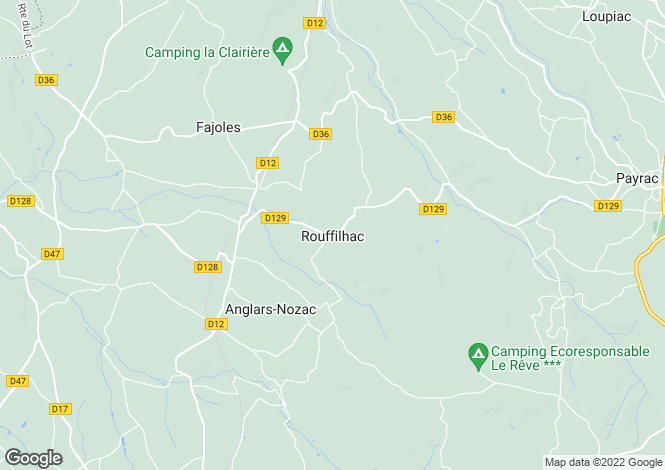 Map for rouffilhac, Lot, France