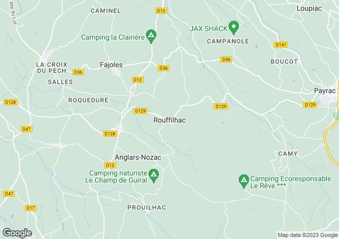 Map for Midi-Pyrénées, Lot, Rouffilhac