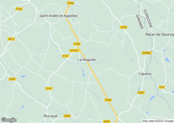 Map for La Roquille, Gironde, Aquitaine