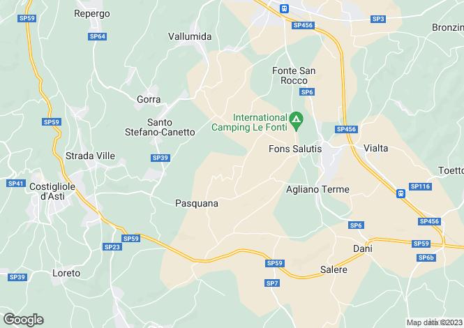 Map for Agliano Terme, Asti, Piedmont