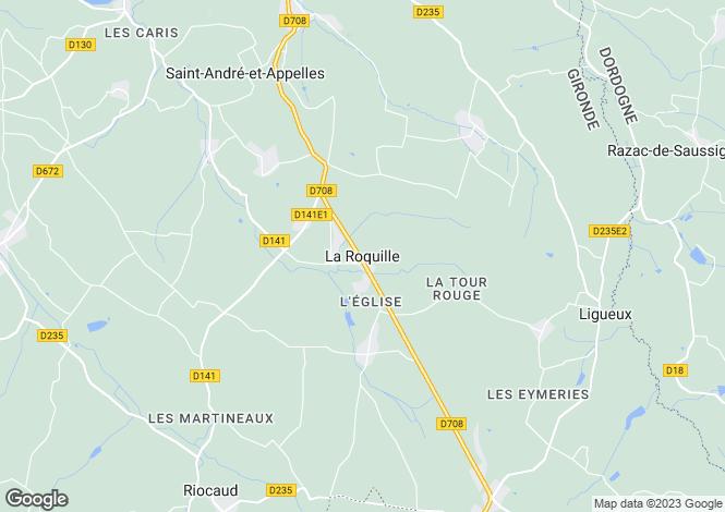 Map for Secteur: Ste Foy la Grande, Gironde