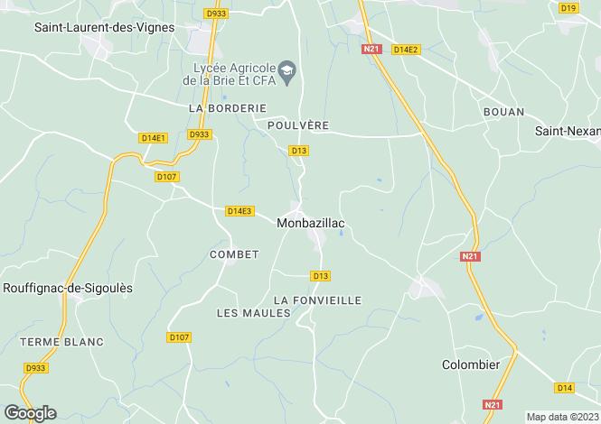Map for Secteur: Monbazillac, Dordogne