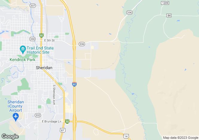 Map for Sheridan, Sheridan County, Wyoming