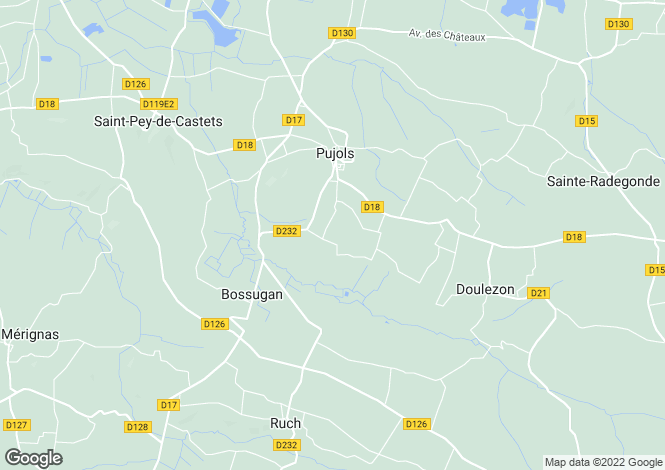 Map for Pujols, Gironde