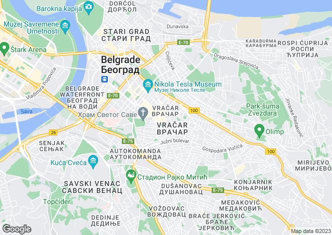Map for Belgrade