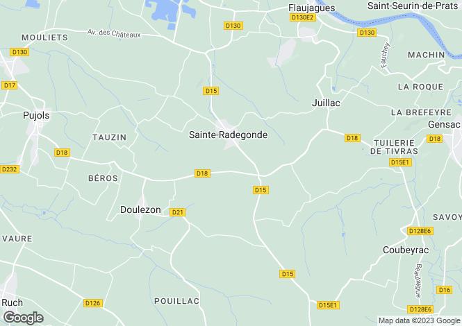 Map for Aquitaine, Gironde, Ste-Radegonde